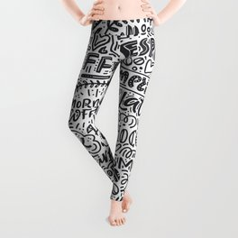 Types of coffee typography illustration Leggings