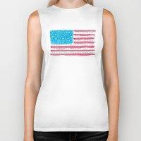 american flag Biker Tanks featuring American Flag by Caleb Boyles