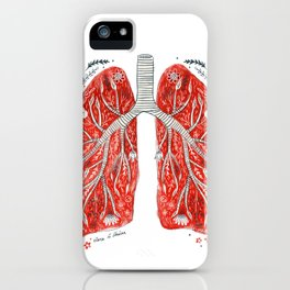 folky lungs iPhone Case