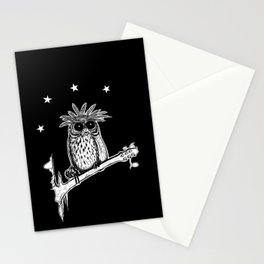 Metal Owl Stationery Cards