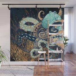 Metallic Octopus II Wall Mural