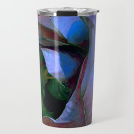 Floribunda Rose - Cool Blue Green Travel Mug