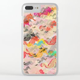 Seahorses Clear iPhone Case