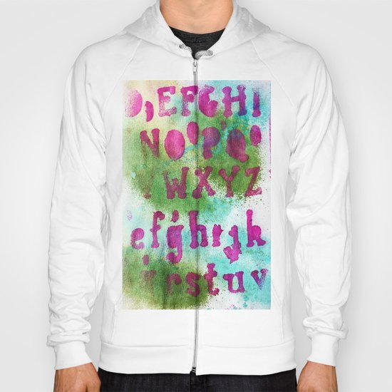 Mixed Alphabet Ink Hoody