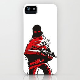 Death wears a track suit iPhone Case
