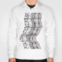 zentangle Hoodies featuring Zentangle Architectural Molding by Vermont Greetings