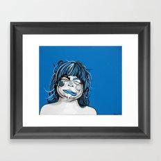 Little Blue Girl Framed Art Print