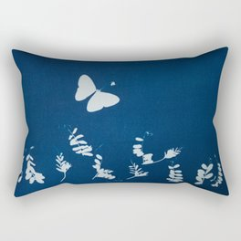 Cyano-butterfly Rectangular Pillow