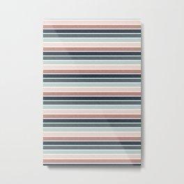 stripes - pink blue multi nudes Metal Print
