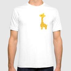 Giraffe MEDIUM White Mens Fitted Tee