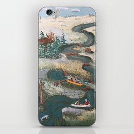 Canoeing iPhone Skin