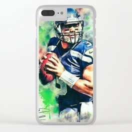 Russell Wilson Clear iPhone Case