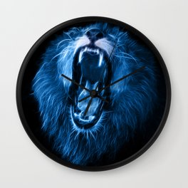 Digital fantasy drawing of a lion Wall Clock