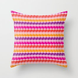 Geometric Stripes Vector Pattern Hand Drawn Background, Retro Color Throw Pillow
