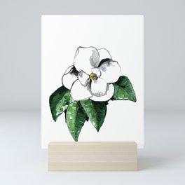 White magnolia Mini Art Print
