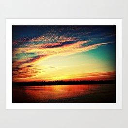 Sunrise or sunset Art Print