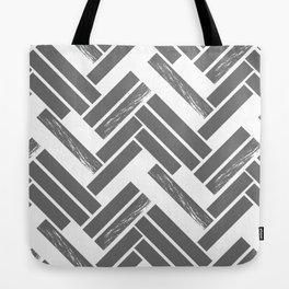 Modern Chevron - Grey Tote Bag