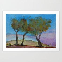 October's tree Art Print