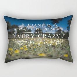 Johnny, La Gente Esta Muy Loca Rectangular Pillow