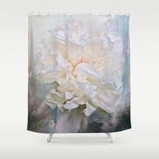 Abstract Peony in Blue Shower Curtain