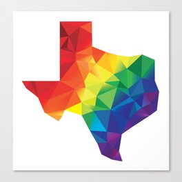 Geometric Pride Texas Canvas Print