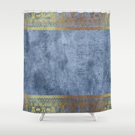 Blue Egypt Shower Curtain