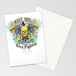 West Soul Super Kimbat Keep Fighting Stationery Cards