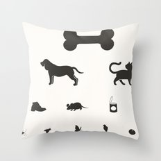 eye test for dog Throw Pillow