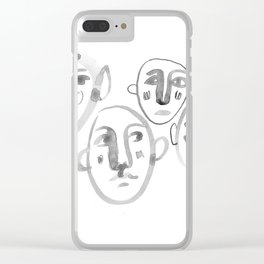 Familiar Strangers Clear iPhone Case