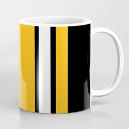 Pittsburgh Black And Yellow Abstract Coffee Mug