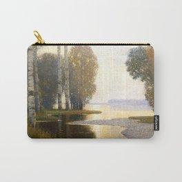 Landscape with Birches by Vilhelms Purvītis - Latvian Lettish Fine Art - Purvitis Carry-All Pouch