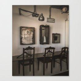 composition vs texture, furniture - teatro da garagem Canvas Print