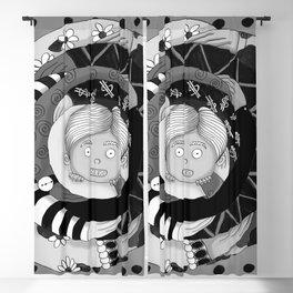 Black and white social hug Blackout Curtain