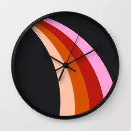 Retro Rainbow Stripes Wall Clock