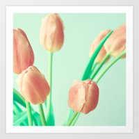 pushing daisies Art Prints featuring Gravity's Pushing by Caroline Mint