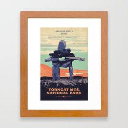 Torngat Mountains National Park Poster Framed Art Print