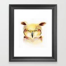 Angry Owl Framed Art Print