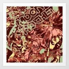 Moon Rocket Art Print