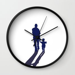 Walking together - hand in hand Wall Clock
