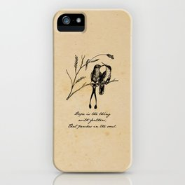 Emily Dickinson - Hope is the Thing with Feathers iPhone Case