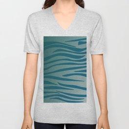 Design lines, blue Wild lines Unisex V-Neck