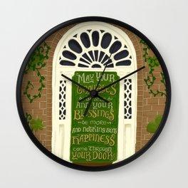 Dublin Door Proverb Wall Clock