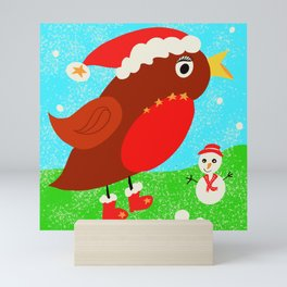 Christine the Christmas robin Mini Art Print