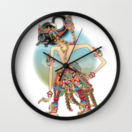 Antareja shadow Puppet character Wall Clock