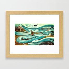 ...and then, the raven came Framed Art Print