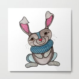 Magical Rabbit Metal Print