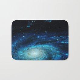 Teal Pinwheel Galaxy Bath Mat