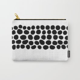 Onyx Spots on White Carry-All Pouch