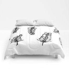 Inked Feather Pattern Comforters