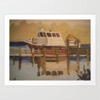 Park boat. Art Print